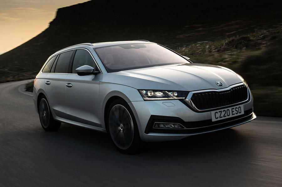 Skoda Octavia estate 2020 UK first drive review - hero front