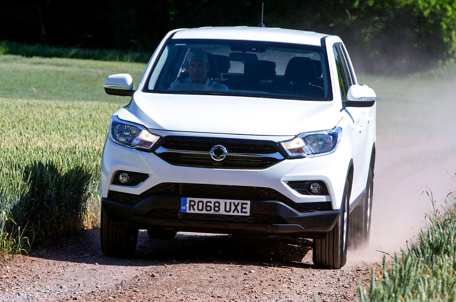 Ssangyong Musso EX 2019 UK first drive review - hero front
