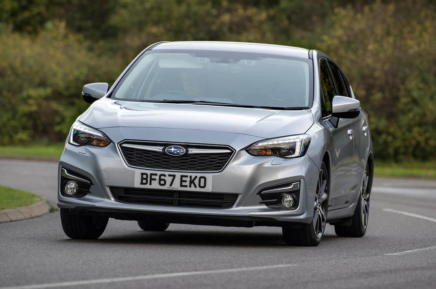 Subaru Impreza 2018 UK review hero front