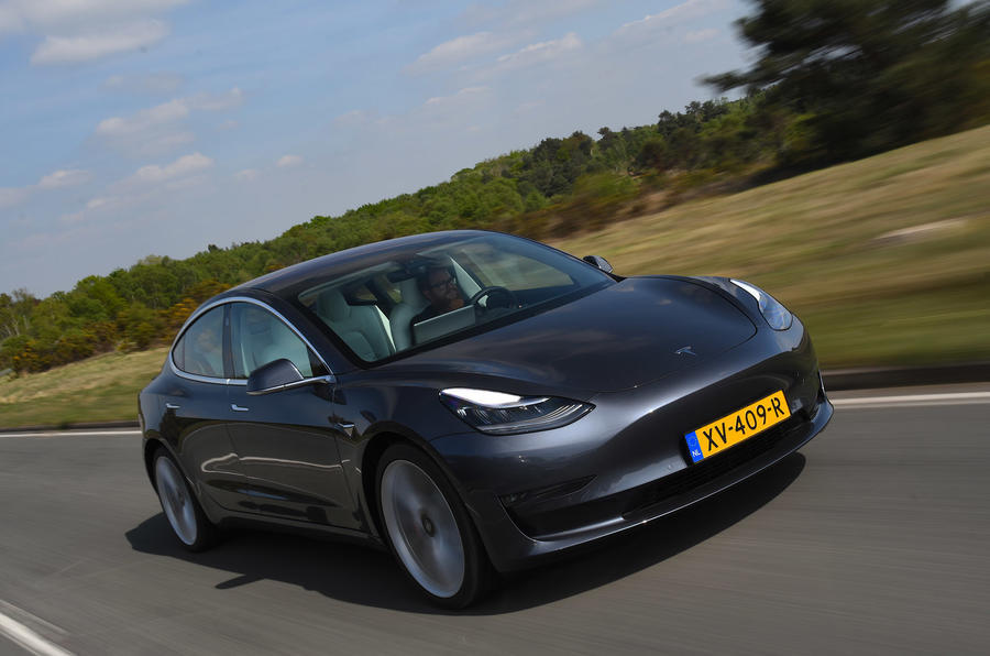 Tesla Model 3 Performance 2019 UK first drive review- hero front