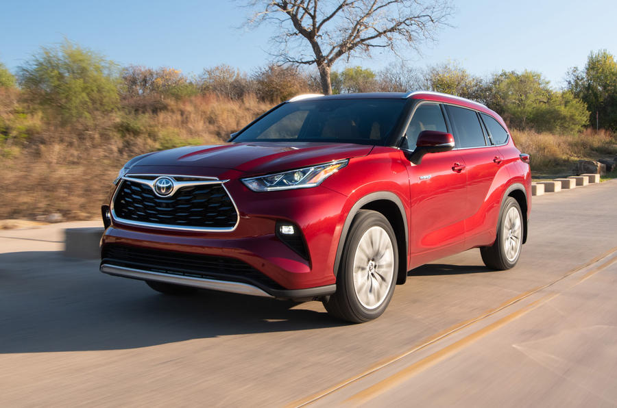 Toyota Highlander Hybrid 2020 first drive review - hero front
