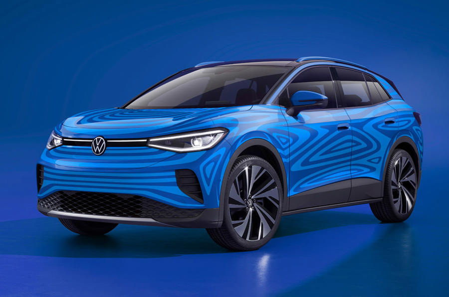 Volkswagen electric ID 4 SUV - static front