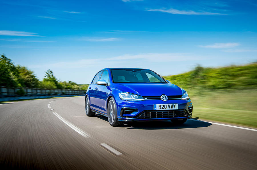 Volkswagen Golf R Performance Pack 2018 review hero front