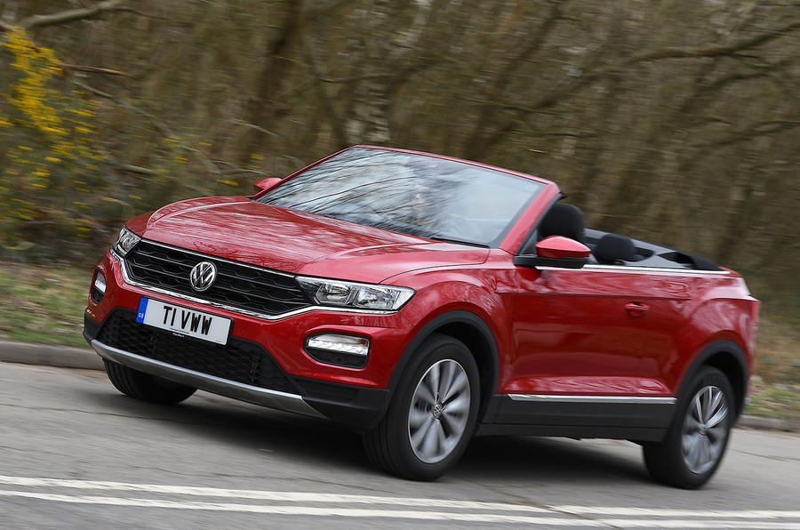 Volkswagen T-Roc Cabriolet 2020 UK first drive review - hero front
