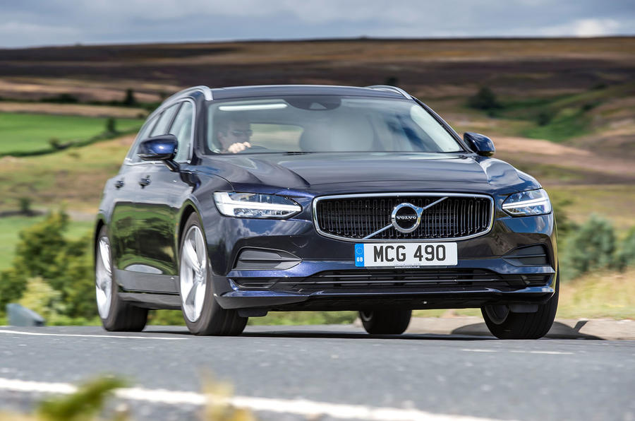 Volvo V90 R-Design Pro 2018 UK first drive review - hero front