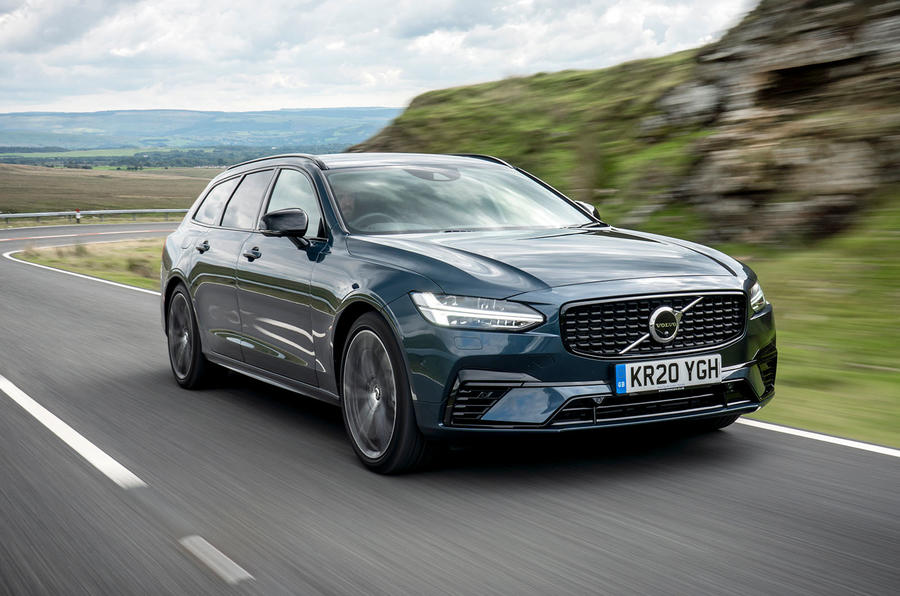 Volvo V90 Recharge T6 2020 UK first drive review - hero front