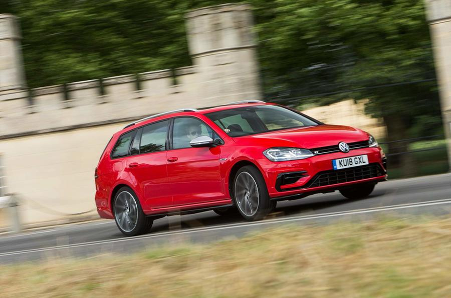 Volkswagen Golf R Estate performance pack 2018 UK review hero front
