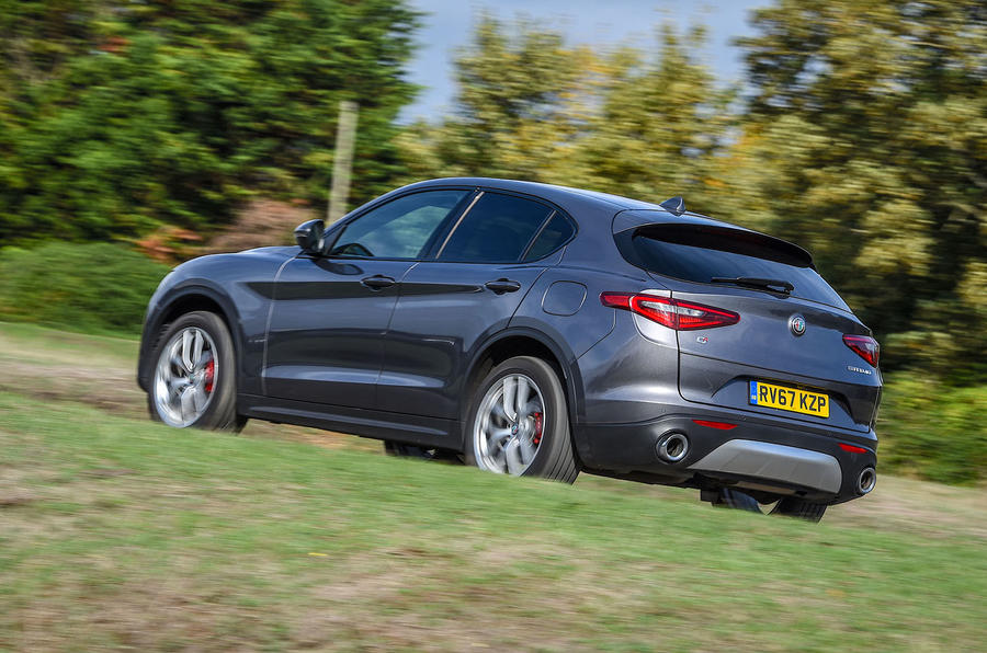 Alfa Romeo Stelvio Speciale first drive review - on the road rear