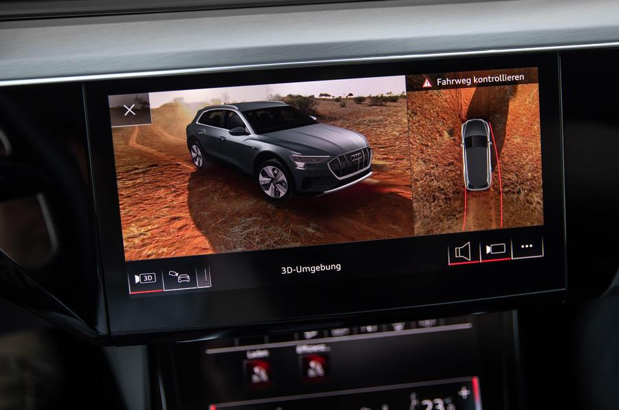 Audi e-Tron 2019 prototype first drive review - rear camera