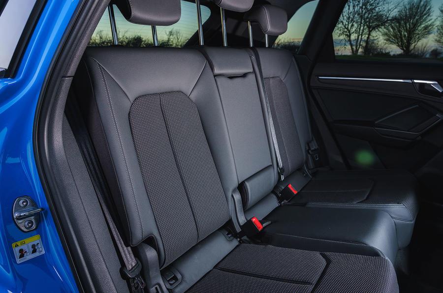 Audi Q3 45 TFSI 2019 first drive review - rear seats