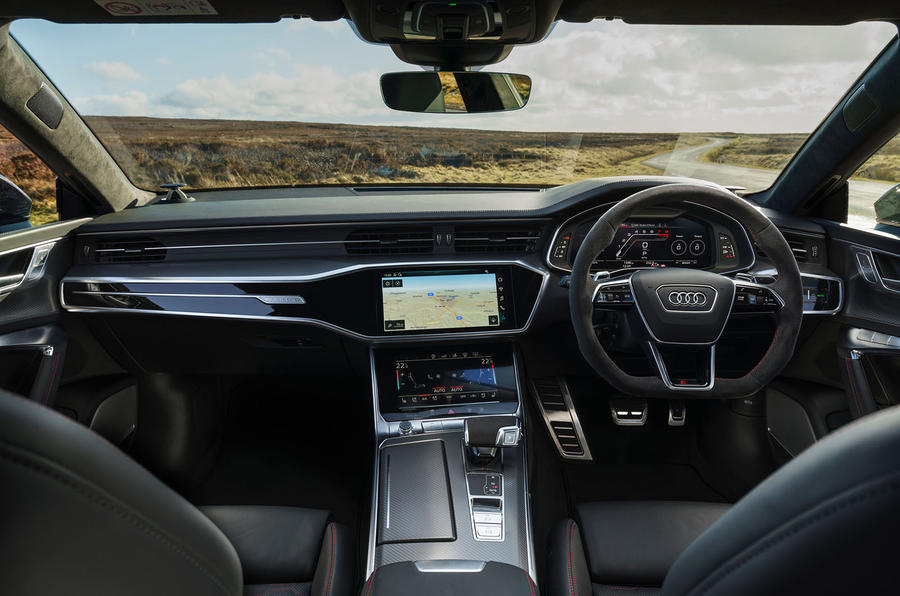 Audi RS7 Sportback 2020 UK first drive review - dashboard