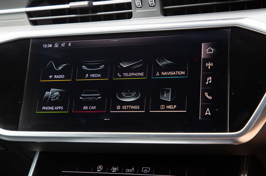 Audi S6 Avant TDI 2019 UK first drive review - infotainment