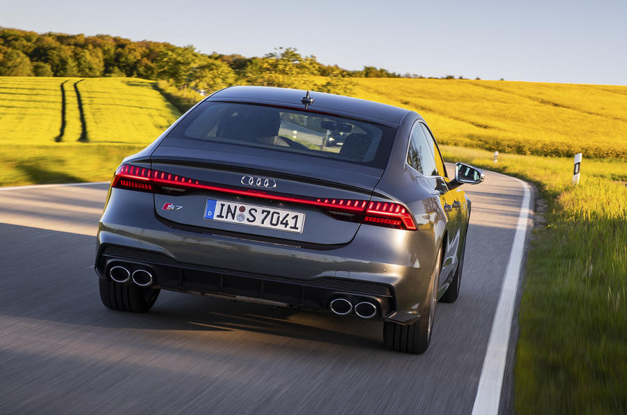 Audi S7 TDI 2019 first drive review - on the road rear