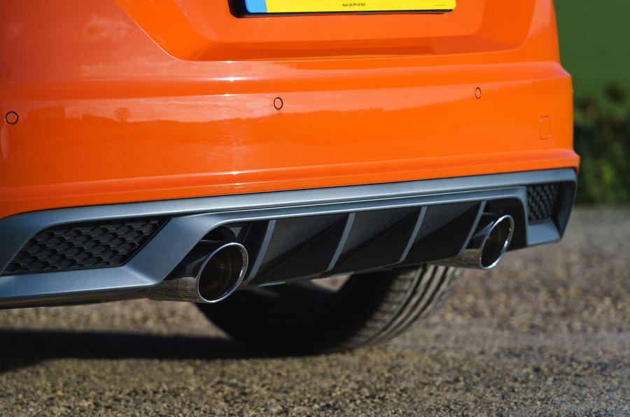 Audi TT Coupe 2019 UK first drive review - exhausts