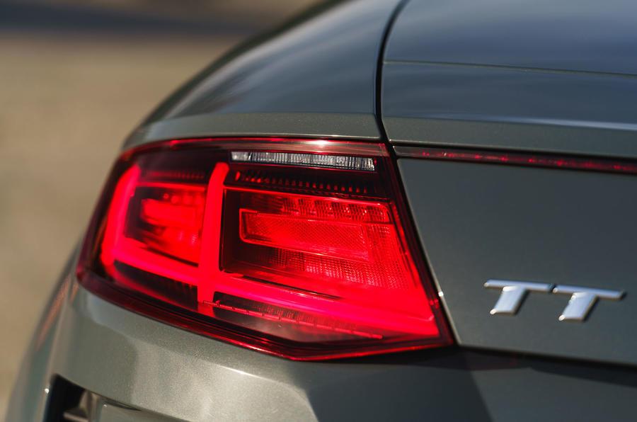 Audi TT Roadster 2019 UK first drive review - rear lights