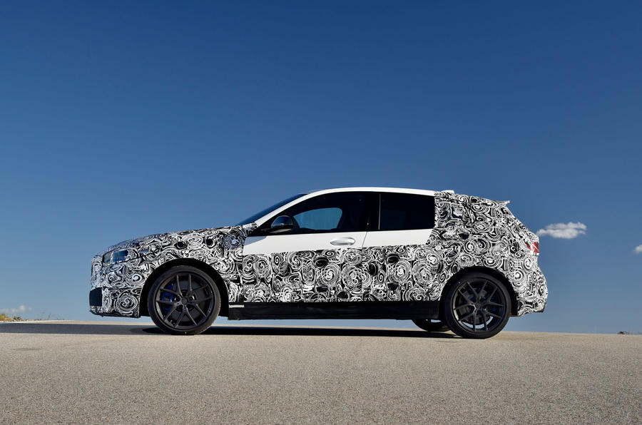 BMW 1 Series 2019 prototype drive - static side