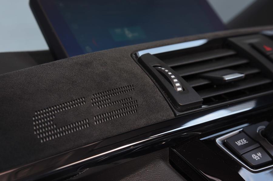 BMW M3 CS 2018 UK first drive review interior trim