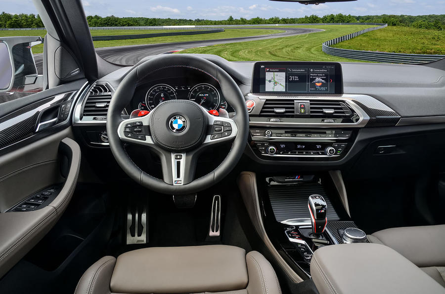 BMW X4 M Competition 2019 first drive review - steering wheel