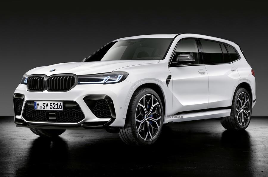 BMW X8 render 2020 - front