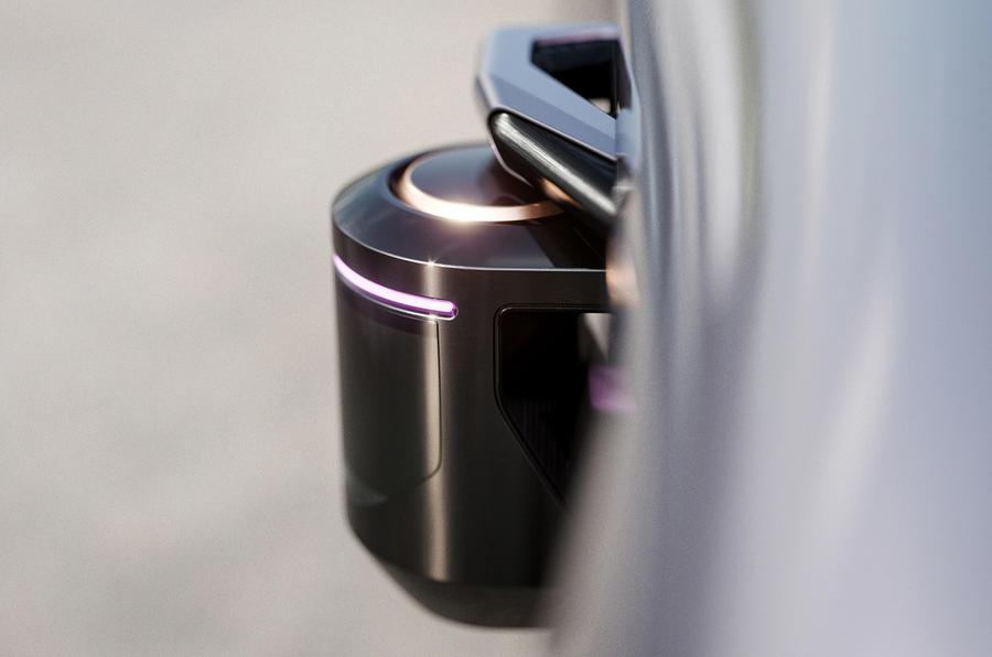 Byton K-Byte saloon concept side sensors detail