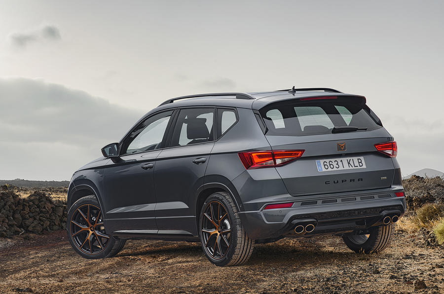 Cupra Ateca 2018 prototype first drive review static rear
