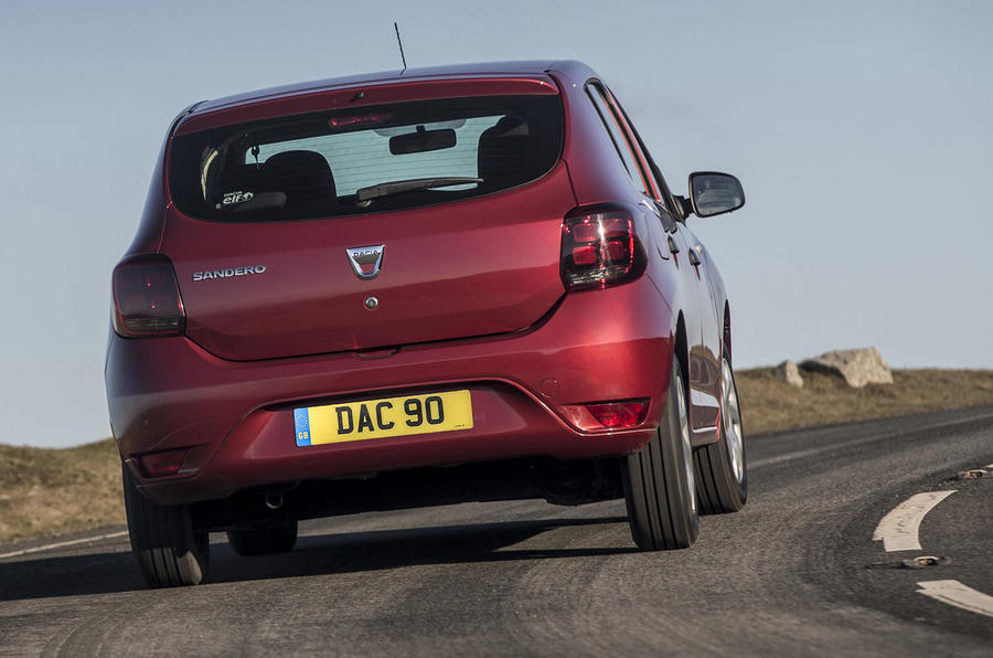 Dacia Sandero 2019 UK first drive review - cornering rear