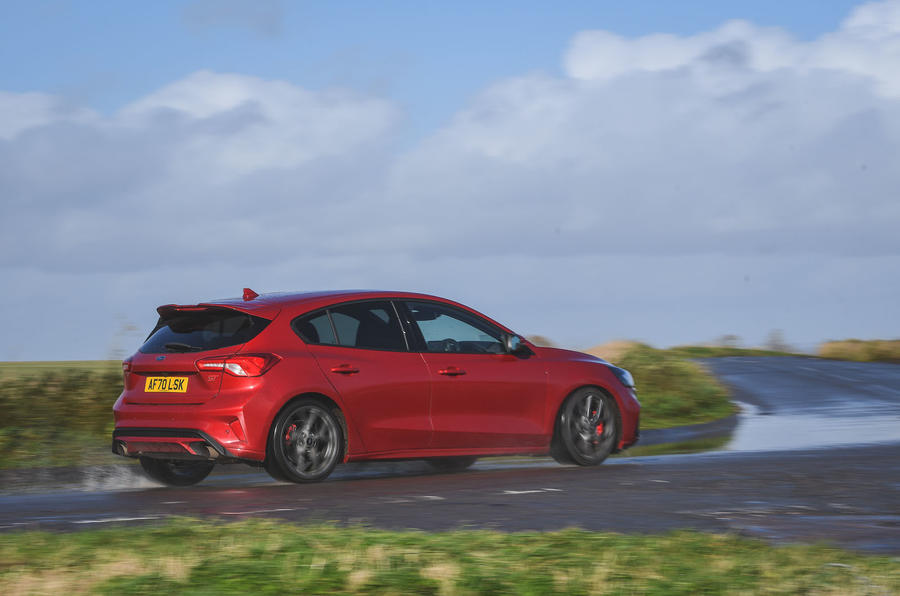 Ford Focus ST automatic 2020 UK first drive review - on the road rear