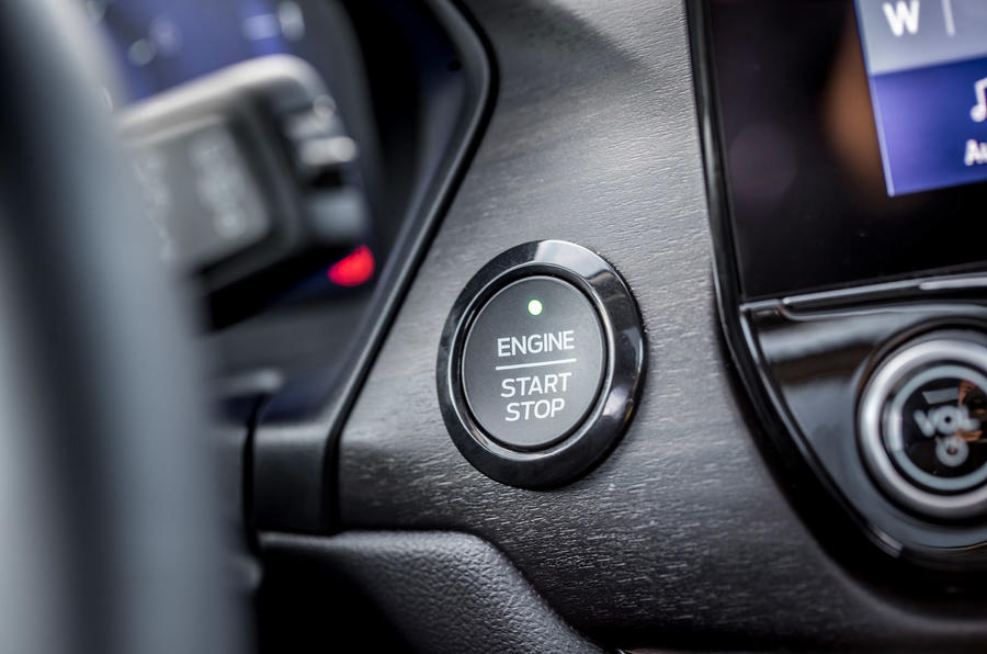 Ford Puma Titanium 2020 first drive review - start button