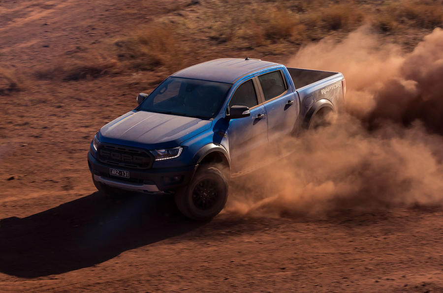Ford Ranger Raptor 2018 first drive review front three quarters
