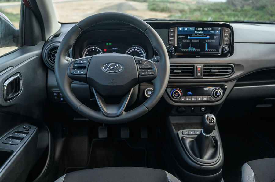 Hyundai i10 2020 first drive review - steering wheel