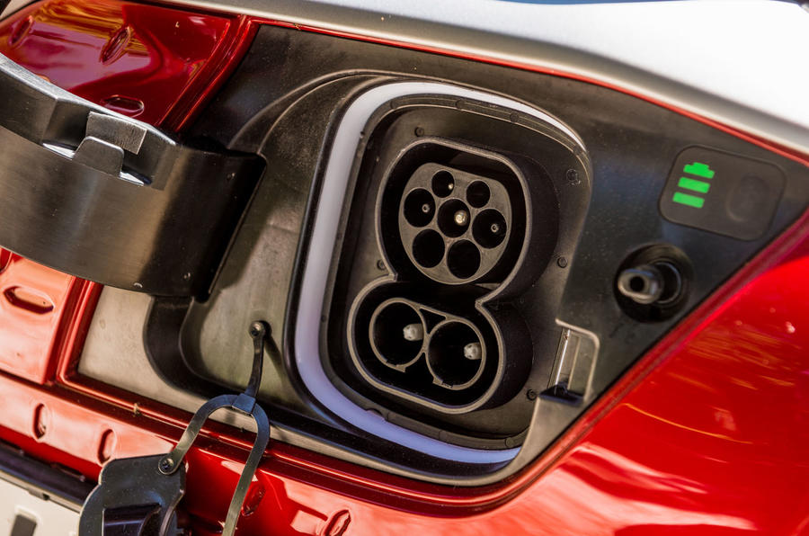Hyundai Kona EV prototype drive 2018 plug socket