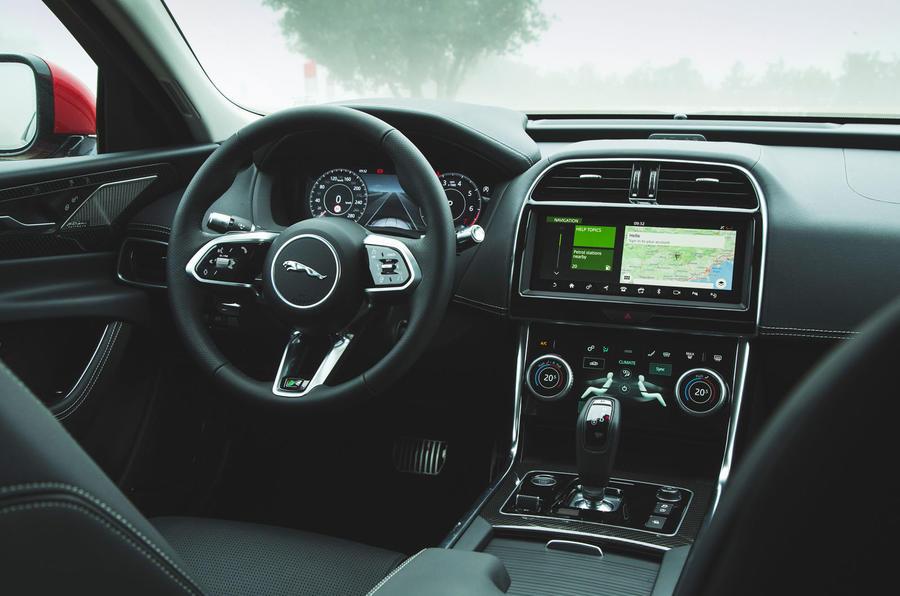 Jaguar XE P300 2019 first drive review - dashboard