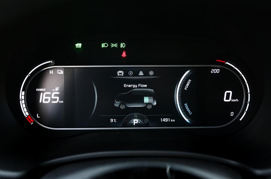 Kia Soul EV 2019 first drive review - instruments