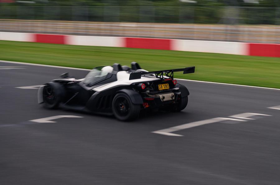 KTM Xbow Darkside developments demonstrator - track rear
