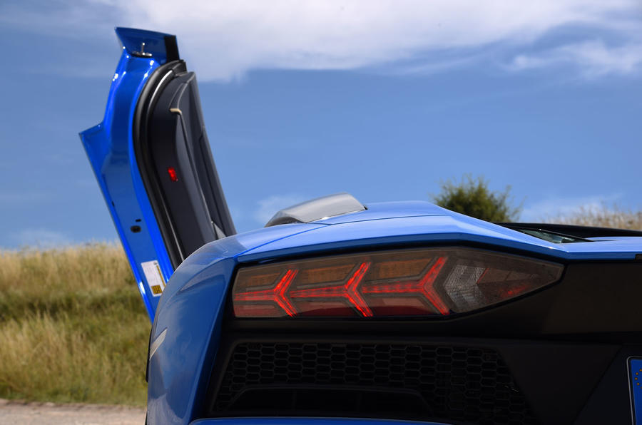 Lamborghini Aventador S 2018 first drive review rear lights