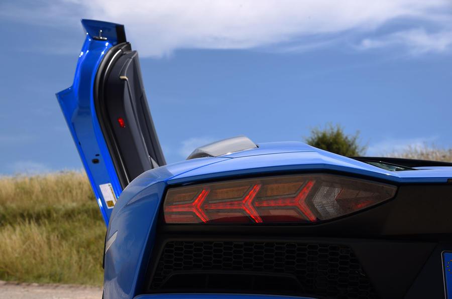 Lamborghini Aventador S 2018 first drive review rear lights