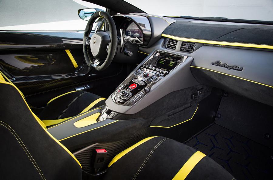 Lamborghini Aventador SVJ 2018 first drive review dashboard