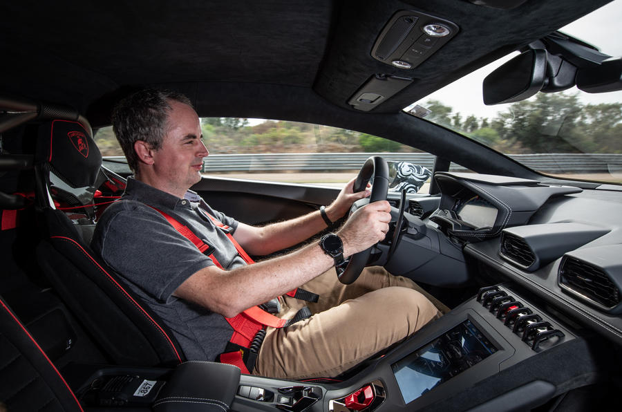 Lamborghini Huracan STO 2020 first drive review - Mike Duff driving