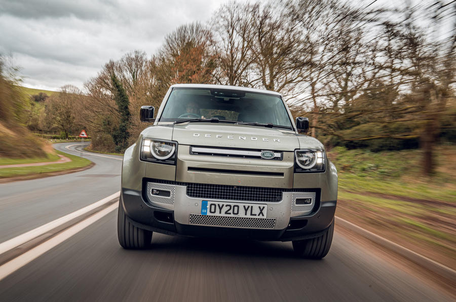 Land Rover Defender 110 2020 UK first drive review - on the road nose