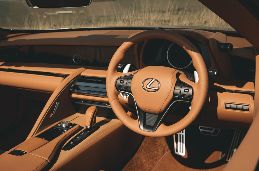 Lexus LC Convertible 2020 UK first drive review - dashboard