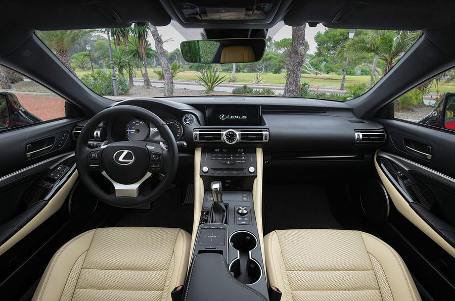 Lexus RC 300h 2019 first drive review - cabin