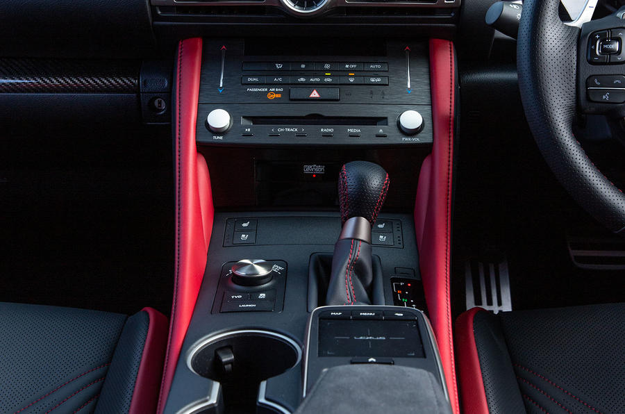 Lexus RC F with track pack 2019 first drive review - centre console