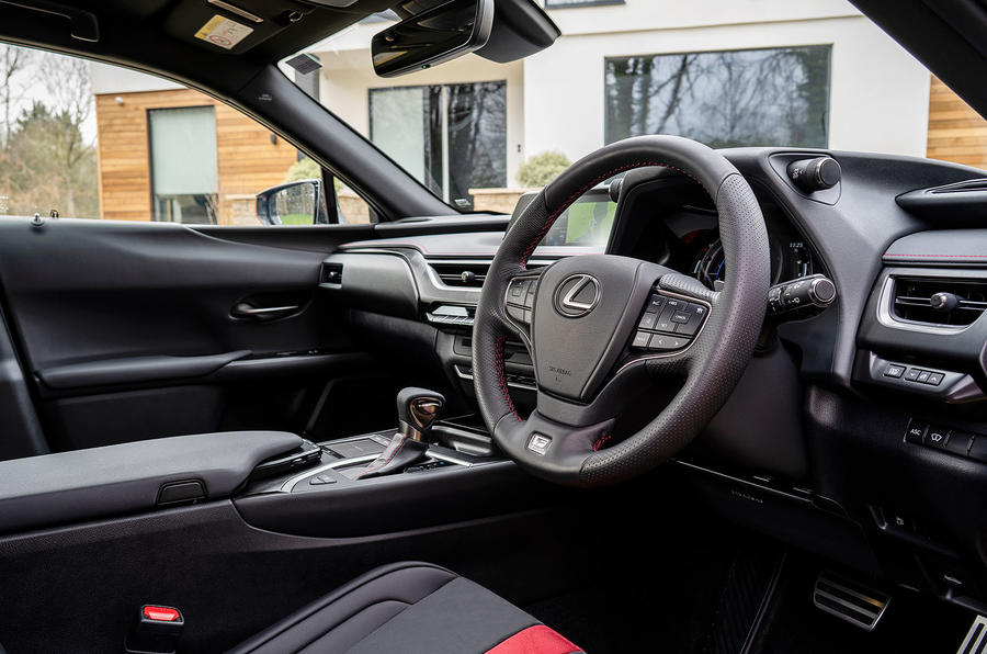 Lexus UX 2019 UK first drive review - steering wheel