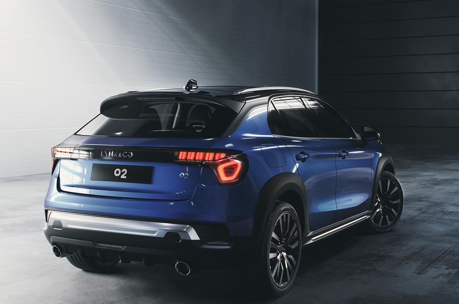 Lynk & Co prototype static rear