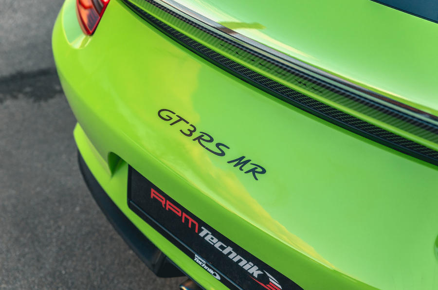Manthey 911 GT3 RS MR 2020 first drive review - rear badge