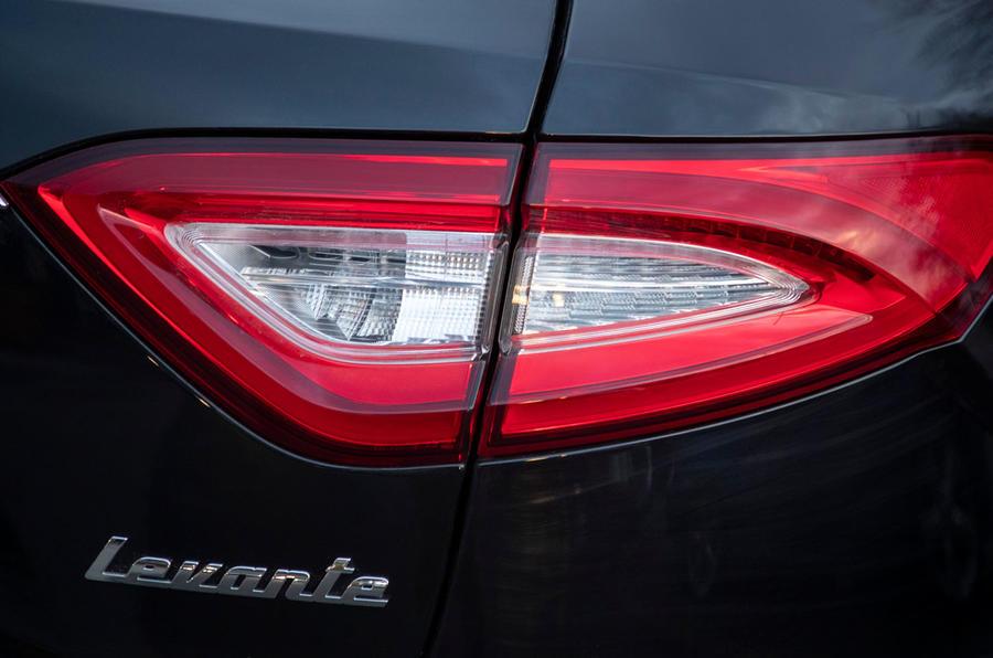 Maserati Levante GranSport V6 2018 first drive - rear lights