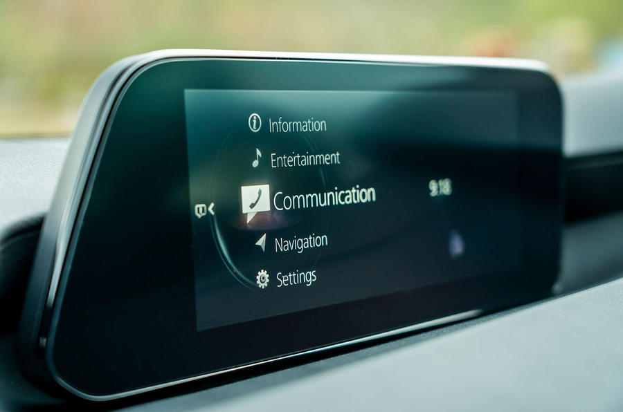 Mazda 3 2019 UK first drive review - infotainment