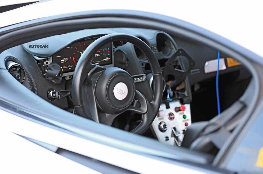 McLaren Sports Series Hybrid prototype interior