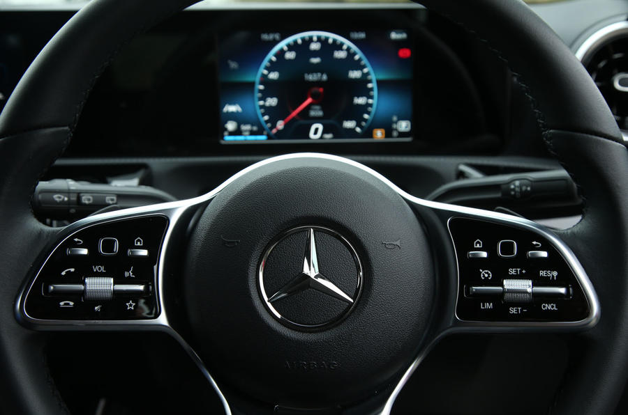 Mercedes-Benz A-Class 2018 long-term review - steering wheel