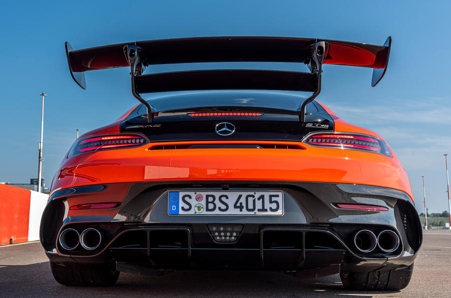 Mercedes-AMG GT Black Series 2020 first drive review - exhaust
